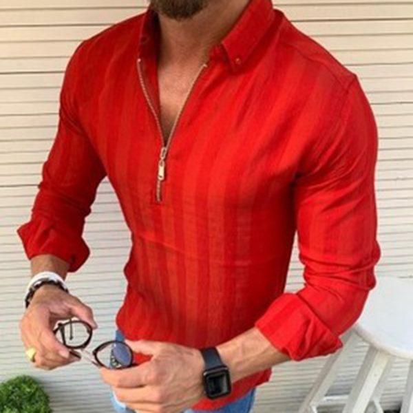 Pánská luxusní košile se zipem Delt