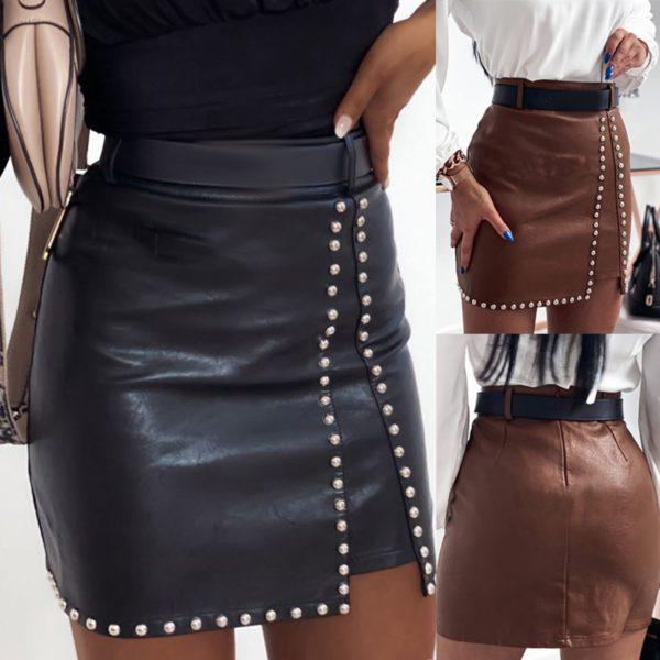 Dámská mini sukně v sexy stylu s korálky