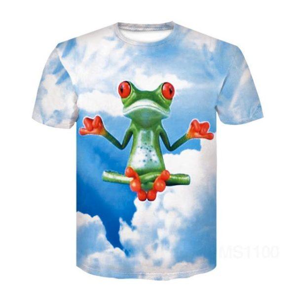 Unisex tričko s originálním 3D potiskem žáby