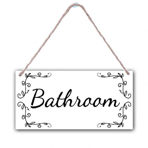 Dekorační cedule na dveře - Koupelna