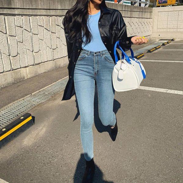 Dámské retro džíny s vysokým pasem