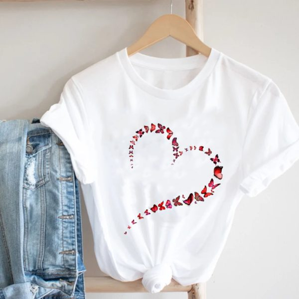 Dámské jednoduché triko s potiskem