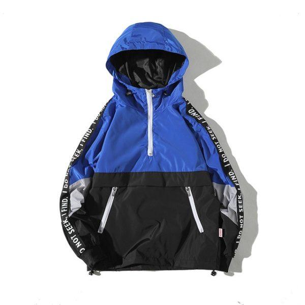 Pánská jarní lehká bunda s kapucí