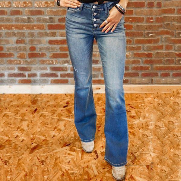 Dámské Vintage zvonové džíny