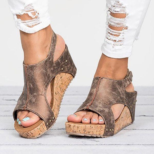 Dámské sandály na platformé Stacy