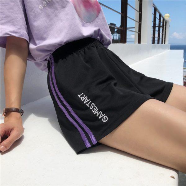 Dámské letní fitness volné kraťasy