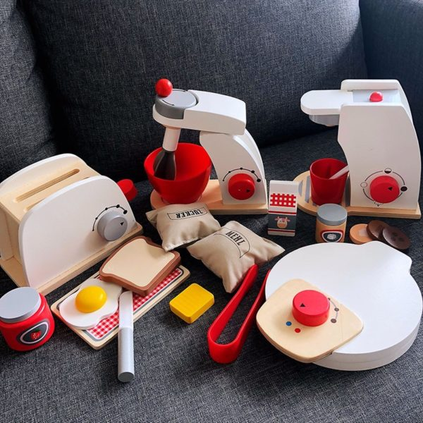 Dětská dřevěná souprava kuchyňského náčiní