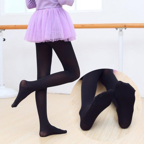 Dívčí černé baletní silonky