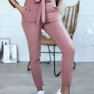 Dámské elegantní společenské kalhoty s vysokým pasem