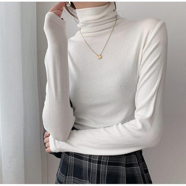Dámský moderní jarní svetr ke krku Lena