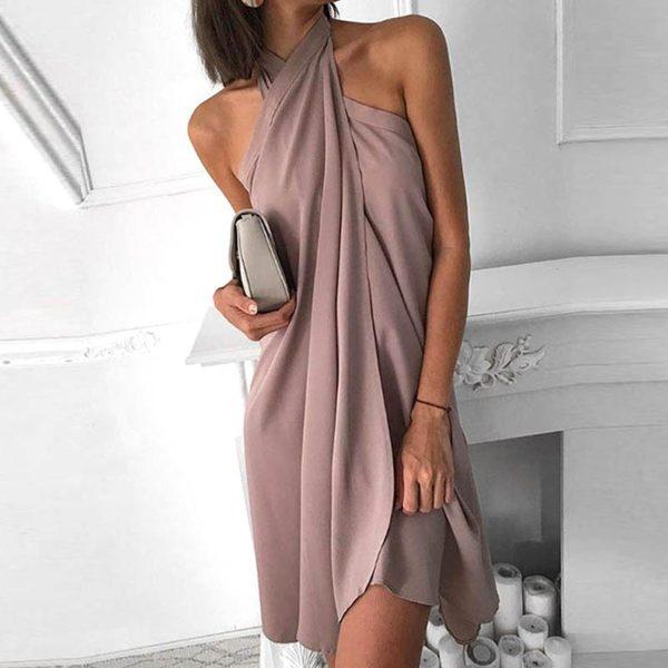Dámské společenské šaty s vázáním přes prsa