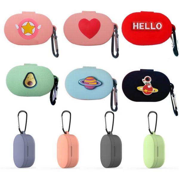 Veselé barevné pouzdro na sluchátka s různými motivy