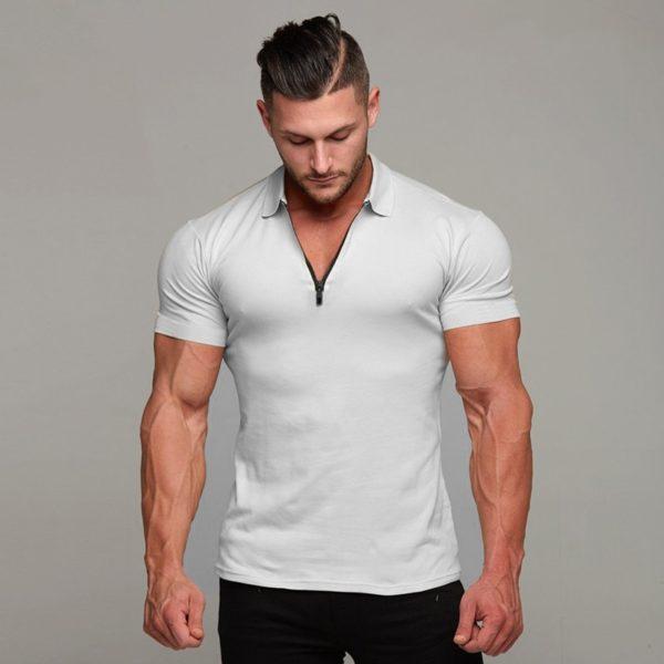 Pánské módní triko s límečkem Mike