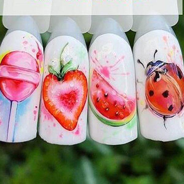 Nalepovací nálepky ovoce na nehty