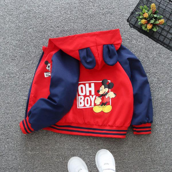 Dětská roztomilá teplá podzimní bunda s Mickey Mousem