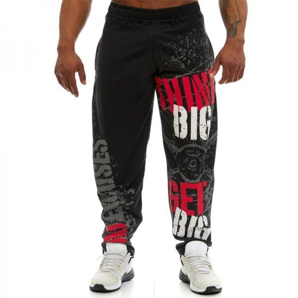 Pánské fitness kalhoty s cool potisky