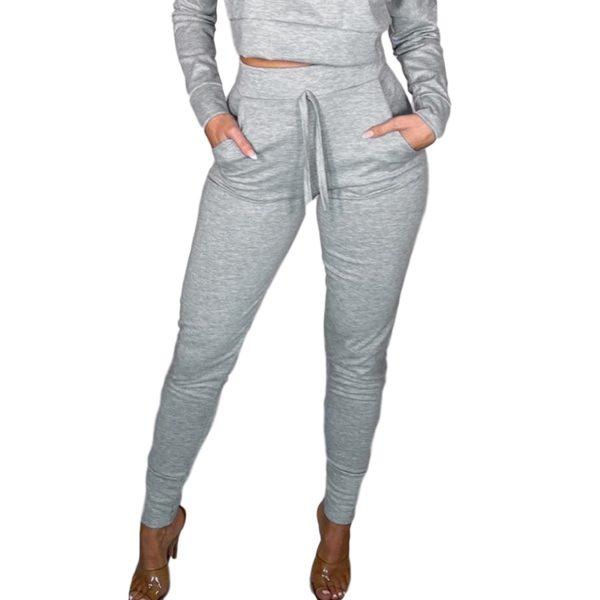 Dámské ležérní jednobarevné sportovní kalhoty