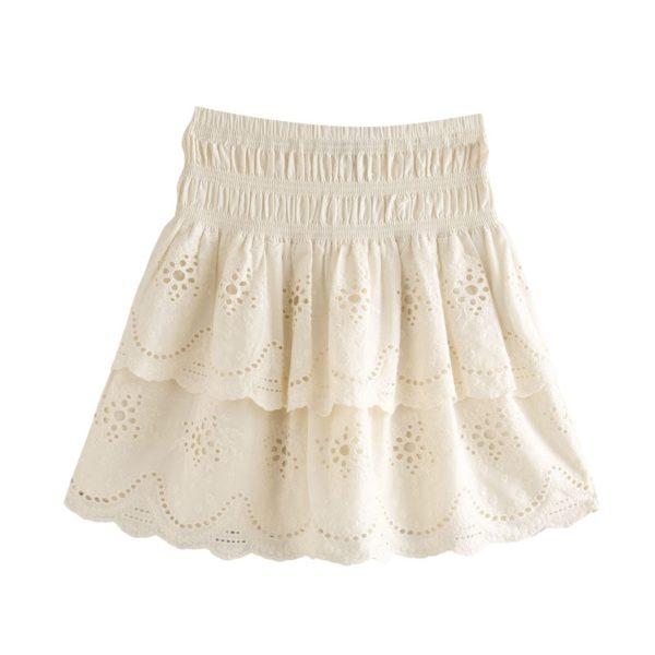 Vyšívaná mini sukně na gumu Tina