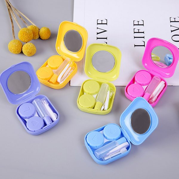 Krásné veselé mini kapesní pouzdro na kontaktní čočky