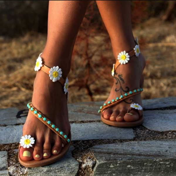 Dámské letní sandálky se sedmikráskami Anna