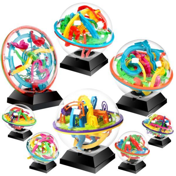 3D kouzelná magnetická kulička s bludištěm