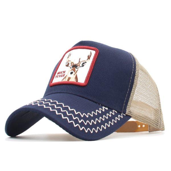 Módní unisex baseballová kšiltovka s nášivkou jelena