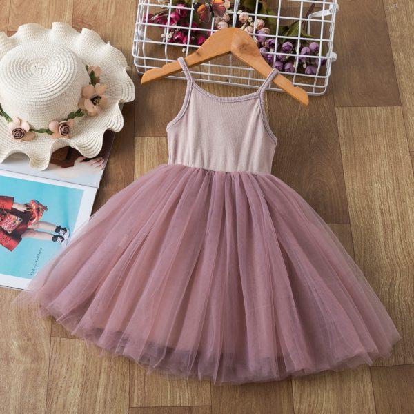 Dívčí letní tílkové šaty se šifónovou sukní
