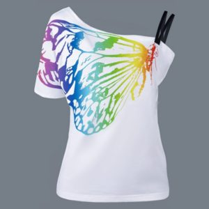 Dámské motýlkové tričko s odhaleným ramenem