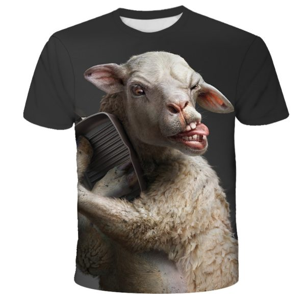 Letní pánské legrační triko s motivy zvířat