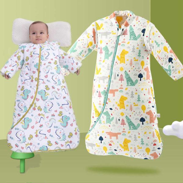 Dětský spací bavlněný zavinovací pytel