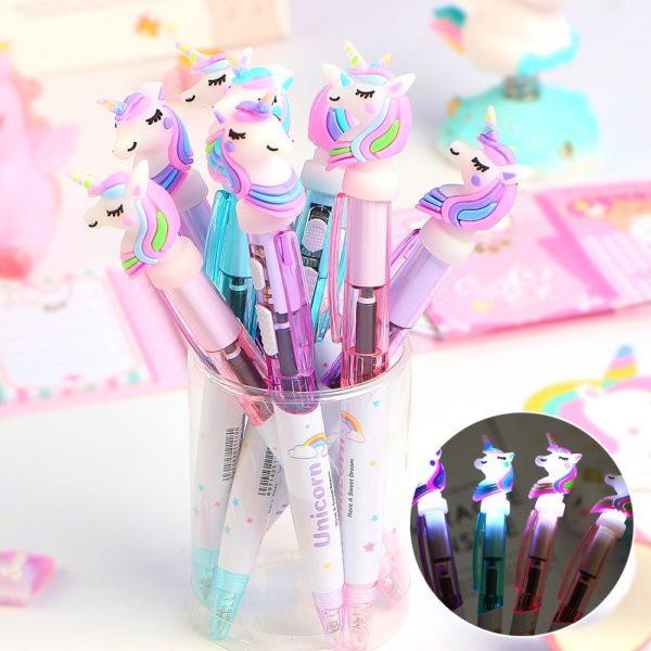 Světélkující Unicorn kuličkové pero