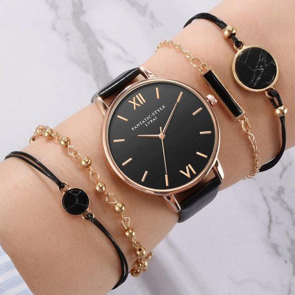 Nádherný elegantní dámský set řetízků a hodinek - více variant