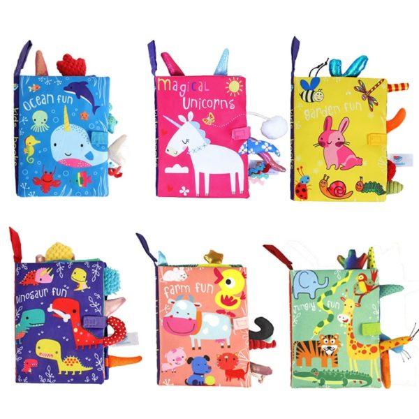 Dětská vzdělávací látková kniha se zvířátky