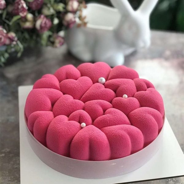 Krásná silikonová forma na dort