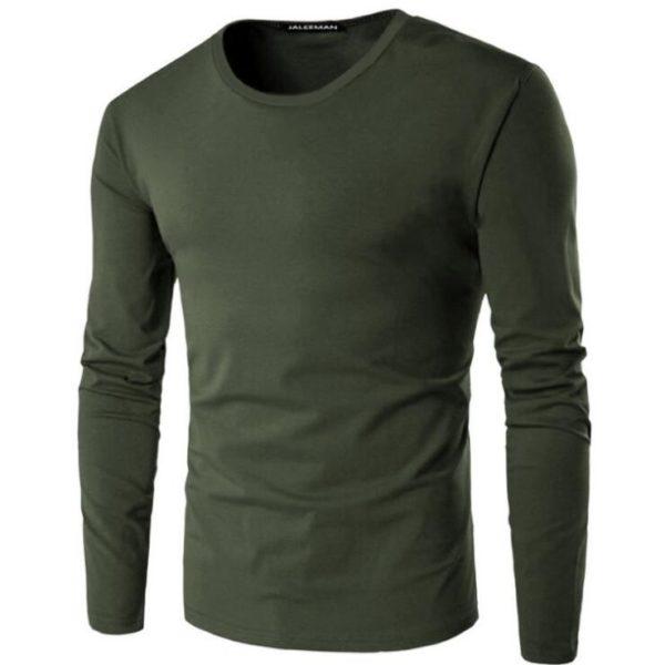 Pánské slim fit tričko s dlouhým rukávem