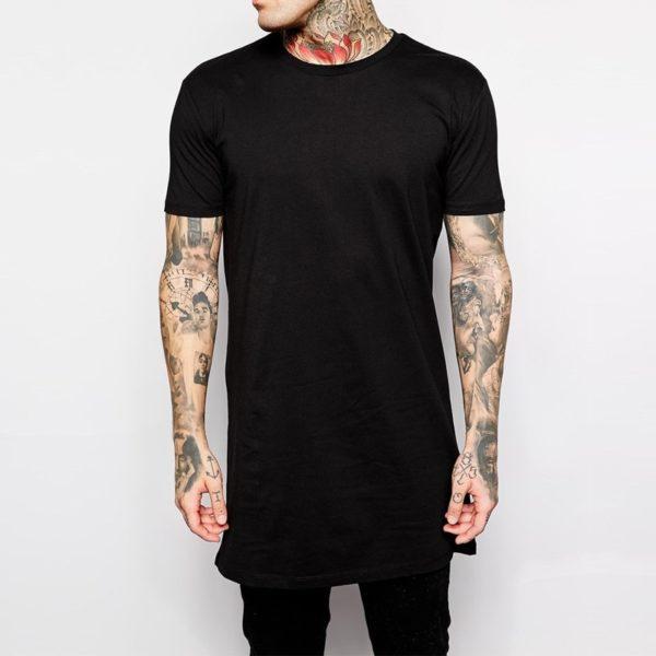 Oblíbené stylové pánské jednoduché dlouhé triko ve dvou barvách