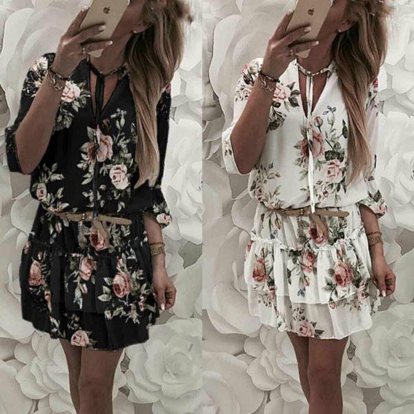 Dámské volánkové šaty na léto