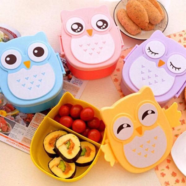 Dětské roztomilé krabičky na oběd v podobě sovy