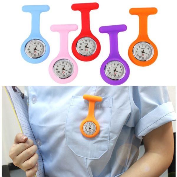 Kapesní silikonové závěsné hodinky pro zdravotníky