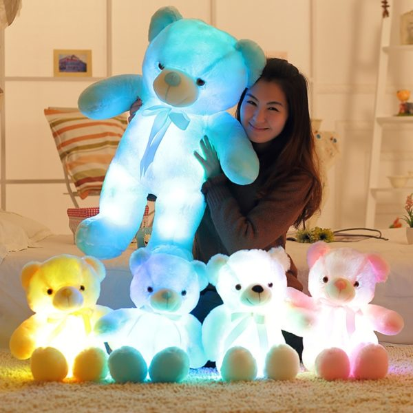 Roztomilý plyšový svítící medvědí kamarád Teddy - různé velikosti