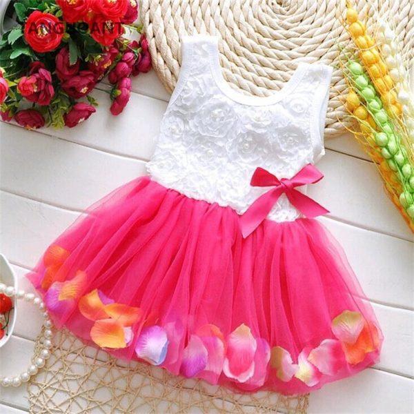 Dívčí květinové letní šaty