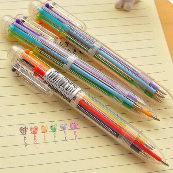 Vícebarevné multifunkční kuličkové pero 6v1