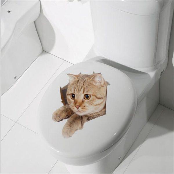 Krásná 3D nálepka na toaletu