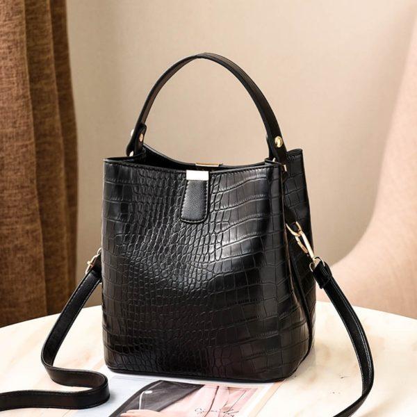 Retro dámská kabelka přes rameno z krokodýlí kůže