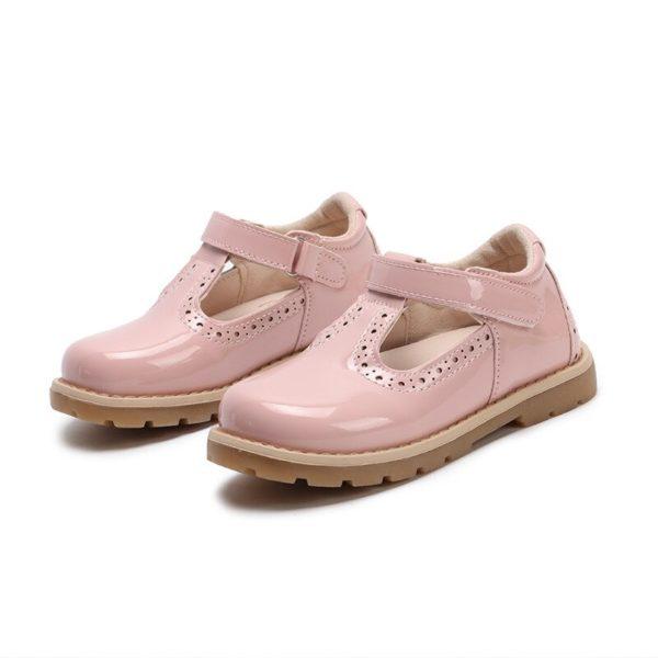 Dívčí lakované sandálky