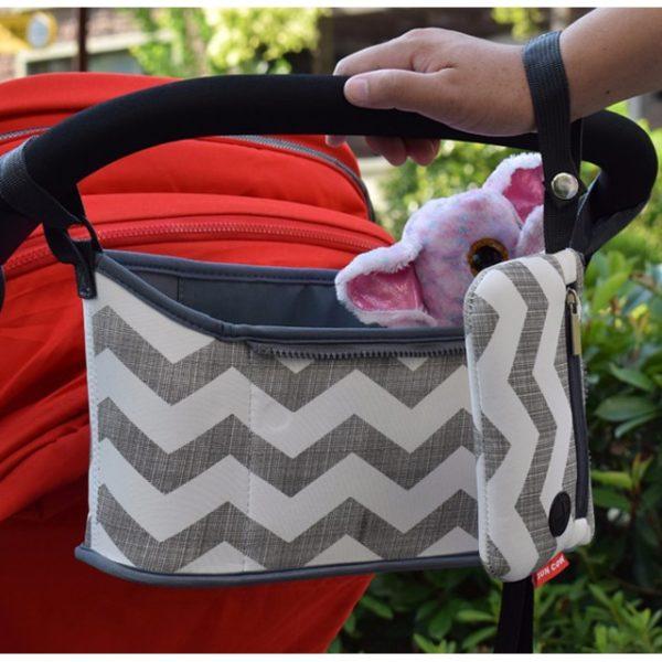 Stylová praktická kabelka na kočárek
