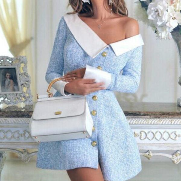 Formální dámské společenské šaty na ramena