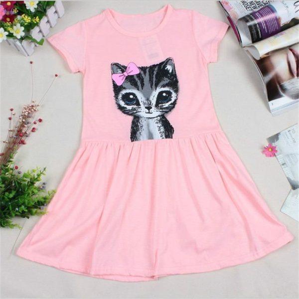 Dívčí šaty s kočičkou