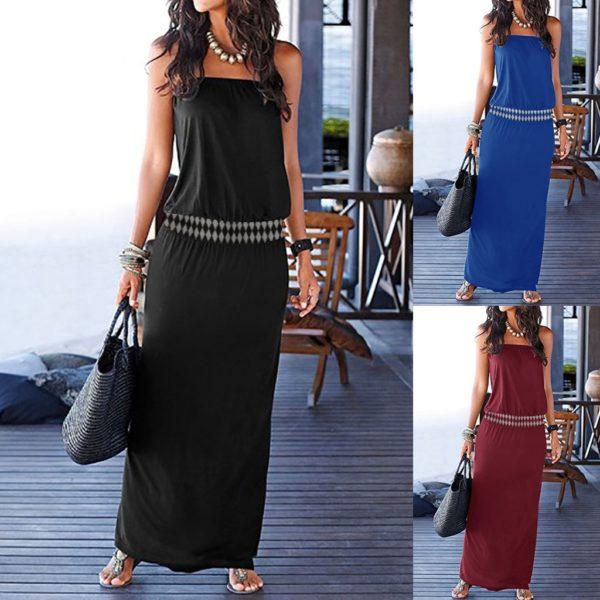 Dámské stylové elegantní maxi šaty