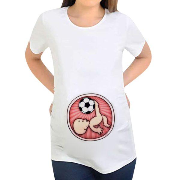 Dámské těhotenské triko - budoucí malý fotbalista